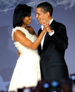 Michelle et Barack Obama amoureux
